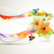 Link toVector butterflies and flower background art 02