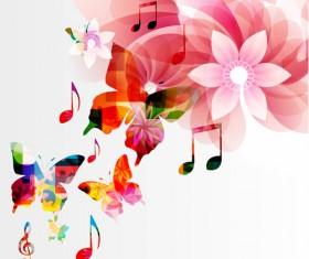 Vector Butterflies and flower background art 03