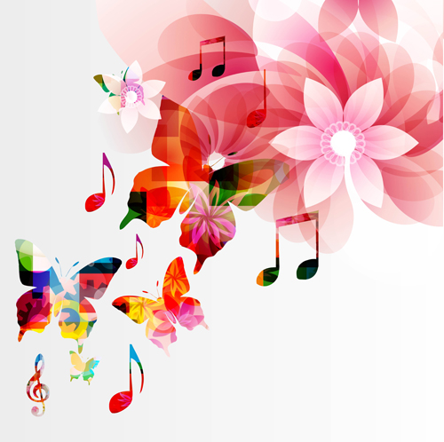 Vector Butterflies And Flower Background Art 03 Free Download