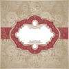 vintage Pattern elements background vector 01