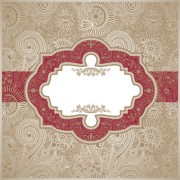 Link toVintage pattern elements background vector 01