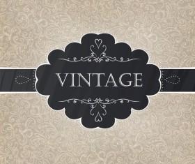 vintage Pattern elements background vector 04