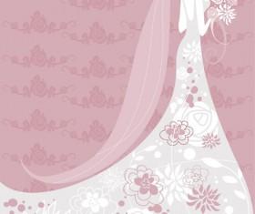 Set of Romantic Wedding vector background 03