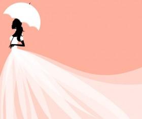 Set of Romantic Wedding vector background 04