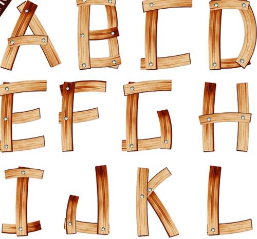 ... wooden alphabet numerals vector 02 download name set of wooden