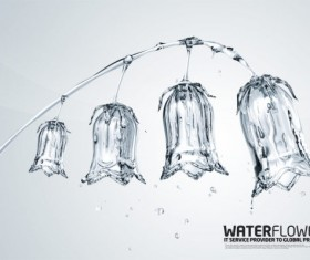 creative Water elements Bell Layered PSD