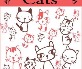 Set of cute cat Brushes 01