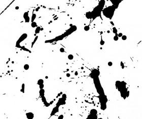 Elements of ink splatters vector background 01