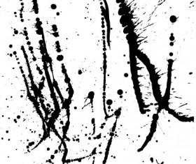 Elements of ink splatters vector background 02
