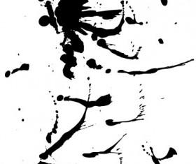 Elements of ink splatters vector background 04