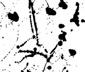Elements of ink splatters vector background 07