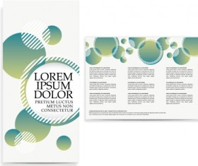 Set of Tri fold business brochure cover vector 05