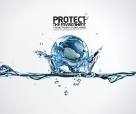 protect the environment design elements PSD template