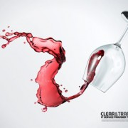 Link toRed wine and glass cup psd set