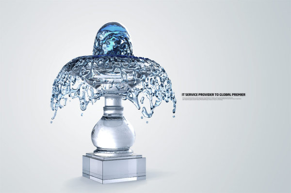 creative Water elements table lamp PSD
