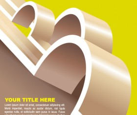 Abstract concept brochure cover background vector 02