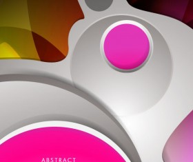 Abstract concept brochure cover background vector 03