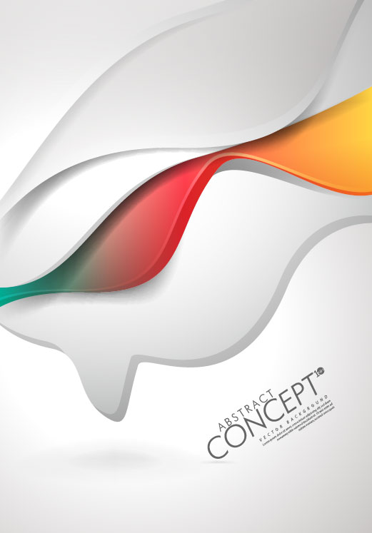 Abstract concept brochure cover background vector 04