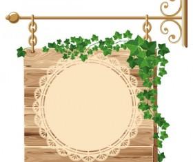 Premium Quality Wooden Billboard vector 01