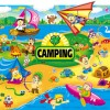 Cartoon summer camp elements Illustration vector 05