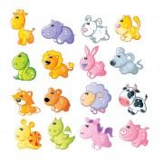 Link toSet of sixteen cute cartoon animal vector