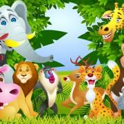 Link toSet of cartoon animal paradise vector 02
