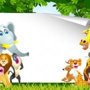 Link toSet of cartoon animal paradise vector 03