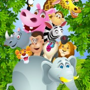 Link toSet of cartoon animal paradise vector 04