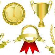 Link toTrophy cup and medals vector set 02