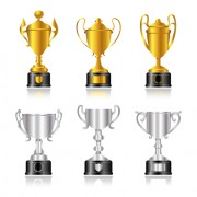 Link toTrophy cup and medals vector set 03
