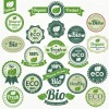 Set of Eco and Bio elements vector labels 03