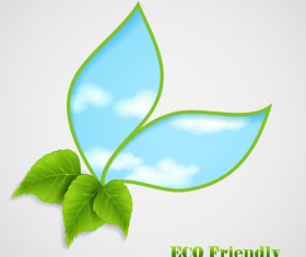 Ecological and Bio vector background 04
