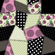 Link toSet of fabric patterns vector 01