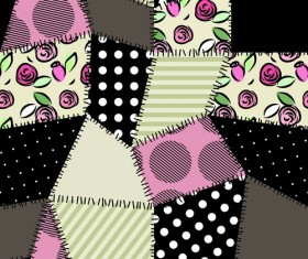 Set of Fabric patterns vector 01