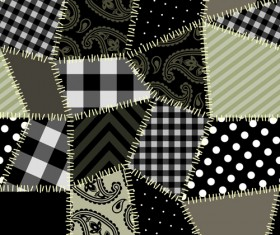 Set of Fabric patterns vector 02