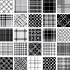 Set of Fabric patterns vector 03