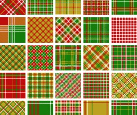 Set of Fabric patterns vector 04