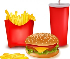 Delicious Fast Food vector set 01