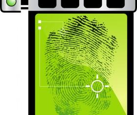 Set of Fingerprint identification vector 03