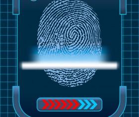 Set of Fingerprint identification vector 04