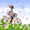 Set of floral Girls elements vector 05