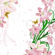 Link toSet of with flowers elements background vector 01
