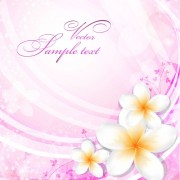 Link toSet of with flowers elements background vector 04