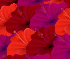 Set of with Flowers elements background vector 05