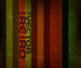 Set of retro Grunge background vector 02
