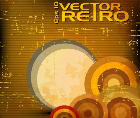 Set of retro Grunge background vector 03