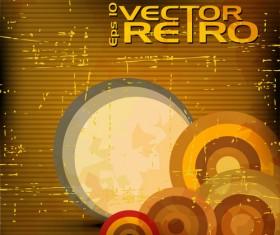 Set of retro Grunge background vector 03