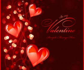 Elements of Romantic Heart vector 02