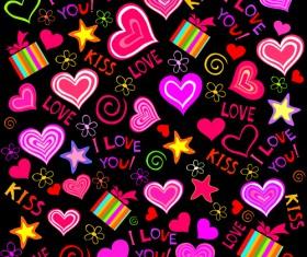 Elements of Romantic Heart vector 03