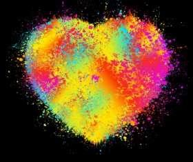 Elements of Romantic Heart vector 04
